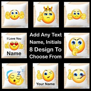 Emoji Personalised Cushion Cover, Popular Gift idea for any occasion, Decor