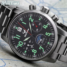 US MAKTIME Poljot Chronograph 31679 Russian Aviator mechanical Pilot's watch