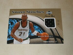 2006-07 Upper Deck Sweet Shot Sweet Stitches Gold Jersey Kevin Garnett 33/50