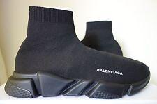 Balenciaga zapatillas calcetín de velocidad UK9 US10 punto elástico Triple Negro Genuino Nuevo