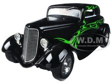1934 FORD COUPE STREET ROD BLACK/LIME GREEN 1/25 DIECAST BY FIRST GEAR 40-0382
