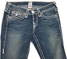 EUC RRP $499 Womens True Religion Brand 'BILLY SUPER T' Indigo Jeans Size 27 L34