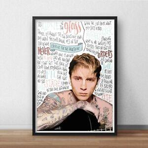 Machine Gun Kelly Poster / Print / Wall Art A4 A3 / Bad Things / Rap Devil / Rap