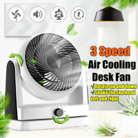 3 Speed Portable Table Air Cooling Desk Fan Quiet Turbo Cooler Office Home