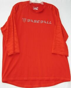 Under Armour men's 3/4 sleeve 9 strong loose HeatGear athletic/gym shirt large