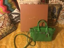 COACH RARE SWAGGER 20 PEBBLE LEATHER 35798 LIMITED PRODUCTION PEAGREEN