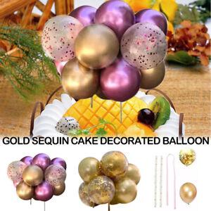 10Pcs Confetti Balloon Cake Topper Arch Garland Birthday Wedding Party Decor*