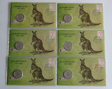 2013 Melbourne Stamp Expo Kangaroo & Map PNC Full Set All 6 Days