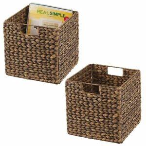 Berrywho Cestas 3pcs de Almacenamiento de Paja Tejida con Tapa Redonda de Acabado Organizador Caja de Almacenamiento para Snack-Dormitorio de la Sala de lavander/ía s M L