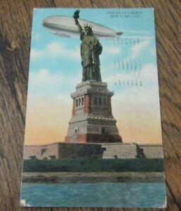 VINTAGE POSTCARD - STATUE OF LIBERTY NEW YORK  CITY - 1930 POSTCARD