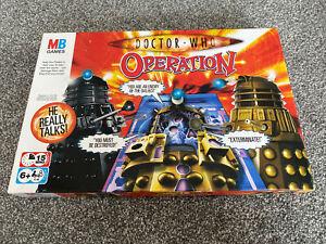 Doctor Who Operation Board Game Talking Dalek Sounds MB Milton Bradley BBC WORKS
