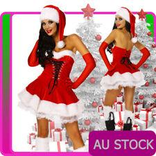 Ladies Mrs Santa Claus Mary Christmas Fancy Dress Costume M Medium 10-12 Hat