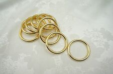 20pcs, 1-1/4'' (32mm) Welded O Rings for webbing strapping -Gold Color