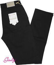 Pantalone HOLIDAY Donna 42 -56 cotone stretch pesante vita alta nero jeans