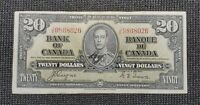 Canada 1937 Coyne Towers BC-25c $20.00 Banknote JE 9868026