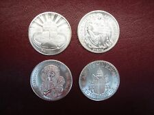 4 DIFFERENT VATICAN - POPE JOHN PAUL II MEDALS - UNCIRCULATED & NICE - MUST SEE