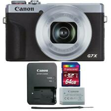Canon PowerShot G7 X Mark III Digital Camera Silver with 64GB Memory Card