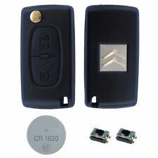 Citroen DIY Repair Kit – 2 Button Remote Car Key Fob Case with HU83 Flip Blade