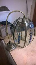 "VINTAGE Stile Marocchino Blu? Metallo Soffitto Ciondolo Luce Lanterna RACCORDO 9"""