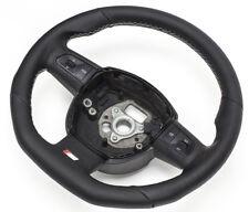 S-LINE Flattened Steering Wheel Multifunction Leather Black Audi Q5 White Night