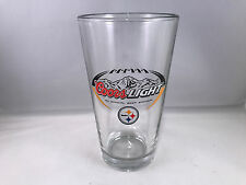 Pittsburgh steelers coors light beer pint glass mug cup 16 oz