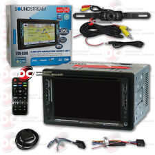 "SOUNDSTREAM VRN-63HB 6.2"" LCD DVD GPS BLUETOOTH STEREO FREE LICENSEPLATE CAMERA"