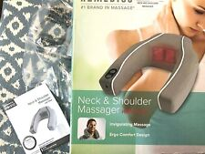 Neck and Shoulder Massager with Heat 2 Speed Polyester Cover 4Aa Batteries (n/i)