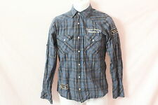Men's For Him H.R. Blue Plaid Long-Sleeve Pearl-Snap Shirt - Size S