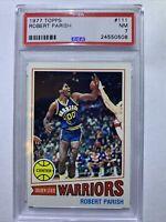 "Robert ""The Chief"" Parish 1977 Topps Rookie #111 ** PSA 7 ** Boston Celtics"