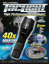 Bell+Howell  As Seen On TV  Black  LED  Tactical Flashlight  AAA Battery