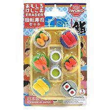 Japanese Erasers IWAKO Puzzle Eraser Conveyor Belt Sushi ER-BRI040 F/S