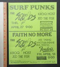 FAITH NO MORE Fender's Ballroom LONG BEACH 1989 PUNK Concert FLYER Surf Punks
