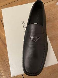 emporio armani Mens Black Shoes