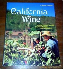 CALIFORNIA WINE - VINS AMERICAINS CATALOGUE ALCOOLS GASTRONOMIE OENOLOGIE