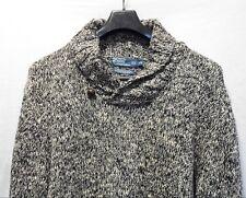 POLO Ralph Lauren Marled Black Cotton Shawl Collar Sweater w/Button Men's XL