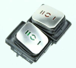 Rocker Switch RED or GREEN DOUBLE POLE water and dust proof