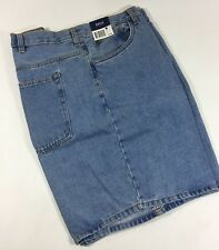 Basic Editions Light Blue Soft Cotton Flat Denim Jean Work Shorts Men's 44W NWT