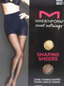MAIDENFORM SWEET NOTHINGS SHAPING SHEERS SZ S NUDE FIRM CONTRL NATURAL WAIST NIP