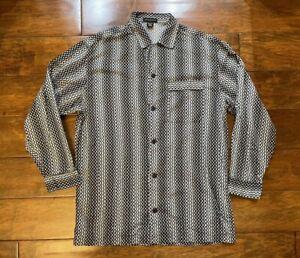 Vintage Jhane Barnes Menswear Long Sleeve Designer Shirt Mens Size 1XT JBH8-4027