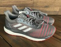 Adidas Boost Solar Drive Mens Size 11.5 Gray Shock Red Running Shoes D97450 New