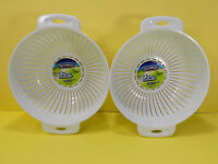 NEW 2 PACK TAILORMADE 3 QUART COLANDER STRAINER MADE IN USA GOOD QUALITY