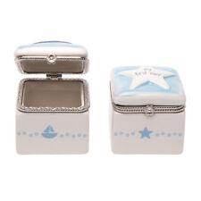Cr Gi 00004000 bson Ceramic First Tooth and Curl Keepsake Box Sailboat & Star