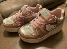 HELLO KITTY GIRLS SHOES With Wheels SIZE 1 Metallic Pink