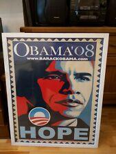 More details for rare framed 2008 barack obama campaign democrat pop art poster hope us election