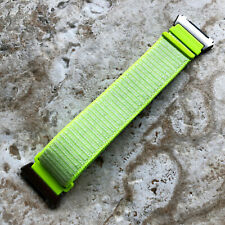 Flash Light Sports Hook and Loop Adjustable Nylon Band Strap for Fitbit Ionic