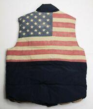 Denim & Supply Ralph Lauren American Flag Navy Blue Mens Down Puffer Vest Med