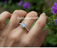 Natural Moonstone 925 Sterling Silver Ring Jewelry Handmade Ring All Size c-11
