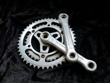Peugeot Stronglight double chainset 56-46t 150mm SHORT CRANK 116 BCD vintage