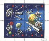DDR 1636-1643 Kleinbogen (kompl.Ausg.) postfrisch 1971 Weltraumforschung