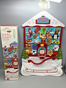 Hallmark North Pole Toy Company Countdown Calendar 24 ornament with box